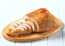 Seins de poulet rôti photos stock
