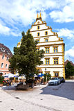 Seinsheim castle in medieval town of marktbreit. MARKTBREIT, GERMANY - JULY 7, 2011: Seinsheim castle in medieval town of Marktbreit, Germany. Marktbreit. Georg Royalty Free Stock Photo