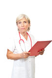 Seious senior doctor woman Royalty Free Stock Image