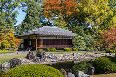 Seiryu-en garden and Teahouse at Nijo Castle in Kyoto Royalty Free Stock Photos