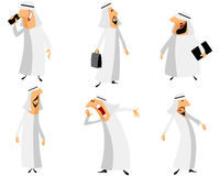 Seis árabes ajustados Imagem de Stock Royalty Free