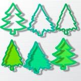 Seis árvores de Natal no grupo ilustração royalty free