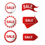 Seis ícones da venda Foto de Stock Royalty Free