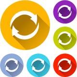 Seis ícones das setas Imagens de Stock