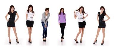 Seis actitudes de la muchacha del adolescente Fotos de archivo