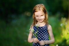 Seis anos adoráveis da menina idosa Fotos de Stock Royalty Free