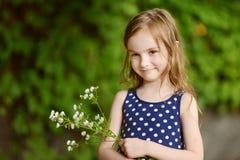 Seis anos adoráveis da menina idosa Imagem de Stock