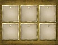 Seis armazones del grunge para la invitación Ilustración del Vector