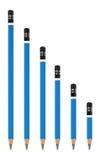 seis 6b corrigem isolado no branco Imagens de Stock Royalty Free