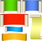 Seis bandeiras da cor Foto de Stock Royalty Free