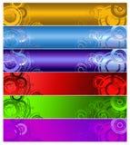 Seis bandeiras multi-coloured Foto de Stock