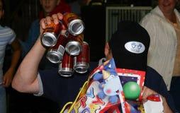 Seis blocos da cerveja para um presente de aniversário fotografia de stock royalty free
