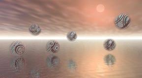 Seis bolas stock de ilustración