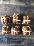 Seis bolos transversais quentes Fotografia de Stock