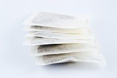 Seis bolsitas de té Foto de archivo libre de regalías