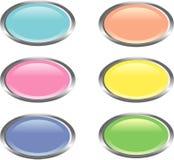 Seis botones brillantes coloridos del Web libre illustration