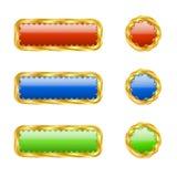 Seis botones a cielo abierto Foto de archivo libre de regalías