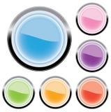 Seis botones para el Web (vector) Imagen de archivo libre de regalías