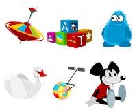 Seis brinquedos ajustados Imagem de Stock