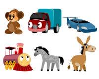 Seis brinquedos ajustados Foto de Stock