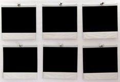 Seis cópias em branco do instante Foto de Stock
