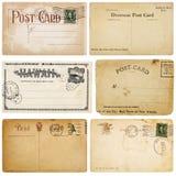Seis cartão do vintage Fotografia de Stock