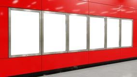 Seis carteleras grandes del espacio en blanco de la orientación de la vertical/del retrato Imagen de archivo