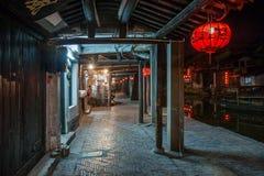----- Seis ciudades meridionales de noche de Xitang Imagen de archivo