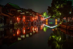 ----- Seis ciudades meridionales de noche de Xitang Imagenes de archivo