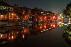 ----- Seis ciudades meridionales de noche de Xitang Foto de archivo