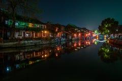 ----- Seis ciudades meridionales de noche de Xitang Fotografía de archivo libre de regalías