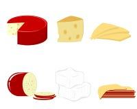 Seis clases de queso Imagenes de archivo