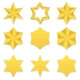 Seis coleções das estrelas do ponto Fotografia de Stock Royalty Free