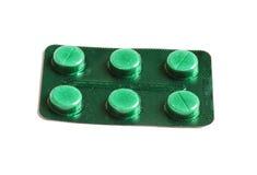 Seis comprimidos médicos imagem de stock