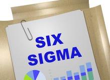 SEIS conceptos de la SIGMA stock de ilustración