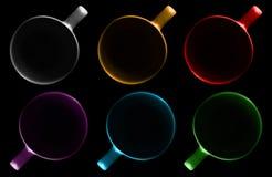 Seis copos de cores diferentes imagem de stock