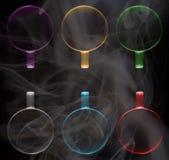 Seis copos de cores diferentes foto de stock