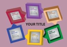 Seis cuadrados de los colores Fotografía de archivo