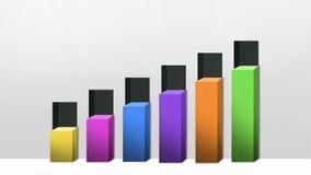 Seis 3D ajustan la carta de barra, aumentan el gráfico económico (la alfa incluida) libre illustration