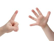 Seis dedos Fotos de archivo