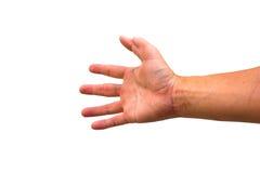 Seis dedos por un lado Imagenes de archivo