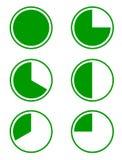 Seis diagramas de empanada Foto de archivo libre de regalías