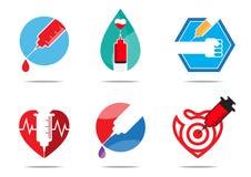 Seis diseños planos vaccíneos Foto de archivo