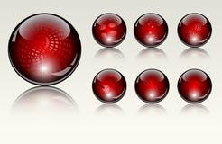 Seis diversas esferas cristalinas Foto de archivo