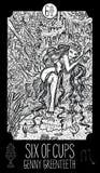 Seis dos copos Bruxa velha do rio ilustração do vetor