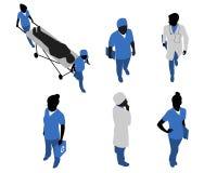 Seis doutores no uniforme ilustração stock
