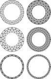 Seis elementos abstractos circulares del diseño Imagen de archivo libre de regalías