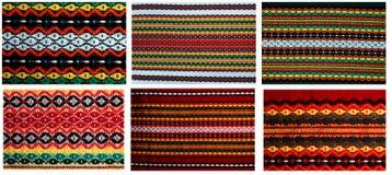 Seis embroideryes em um arquivo 18mp Fotografia de Stock