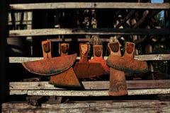 Seis enxadas velhas Imagem de Stock