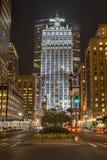Seis escritórios do entretenimento das bandeiras em Manhattan Fotos de Stock